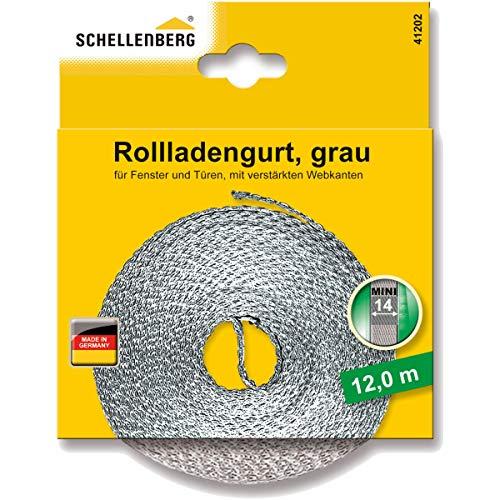 Schellenberg 41202 Rollladengurt 14 mm x 12 m - System MINI, Rolladengurt, Gurtband, Rolladenband