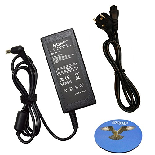 HQRP Netzadapter/Netzteil kompatibel kompatibel mit Samsung UN19F4000 UN22F5000 LED LCD TV, SyncMaster S20A550H, S23A550H, S27A550H mit HQRP Untersetzer