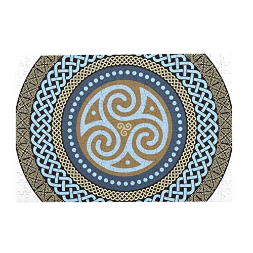 500-piece Wooden Jigsaw Puzzle Celtic Mandala Isolated On White for Adults and Children as an Intellectual DIY Game and a Domestic Decoration Gift for Friends