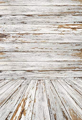 Textura de Suelo de Tablero de Madera Vieja Telón de Fondo Vintage Baby Doll Retrato Fotografía Fondo Estudio fotográfico Fotófono A30 10x10ft / 3x3m