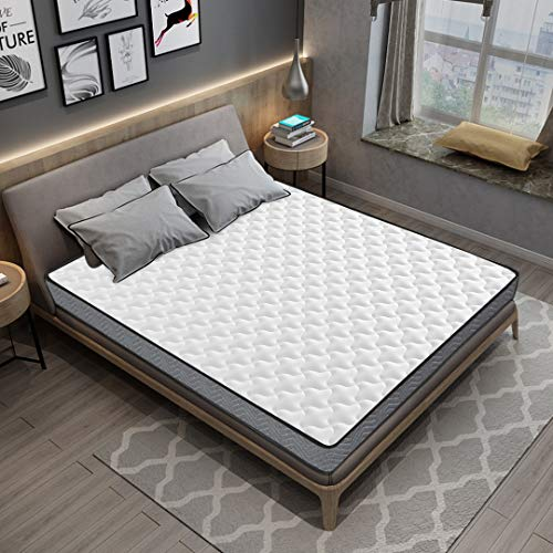 Kono Small Double Mattress 4FT Memory Foam Mattress Spring 3D Breathable Quilted Knitting Fabric Fire Resistant