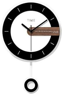 reloj de pared NLIAN Simple - Sala de Estar Reloj de péndulo casero - Dormitorio Mute Reloj de Cuarzo Creativo - Decoración de Arte de Pared