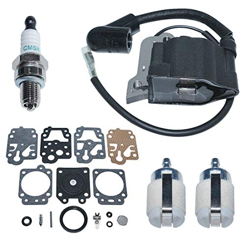 For Sale! AUMEL Ignition Coil w/Carburetor Repair Rebuild Fuel Filter Kit for Honda GX25 HHT25S Lawn...