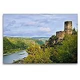CALVENDO Premium Textil-Leinwand 120 x 80 cm Quer-Format Burg Gutenfels, Kaub, Leinwanddruck von JF-Fotografie