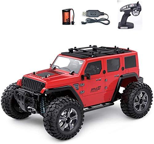 ZHTY Una Y Catorce Coche Teledirigido Eléctrico De Control Remoto Juguetes,2.4G Todo Terreno Hummer 4WD Coche Teledirigido 7.4V650mAh Batería De Litio