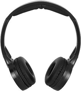 Ichiias Auricular Inalámbrico Infrarrojo Estéreo Audio Auriculares de 2 Canales para el reposacabezas del Coche DVD