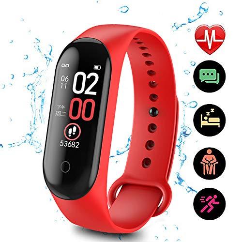 ZHISIDA Fitness Tracker, Activity Tracker Uhr mit Pulsmesser, IP68 wasserdichtes Smart Fitness Band mit Schrittzähler, Kalorienzähler, Schrittzähler Uhr für Frauen und Männer