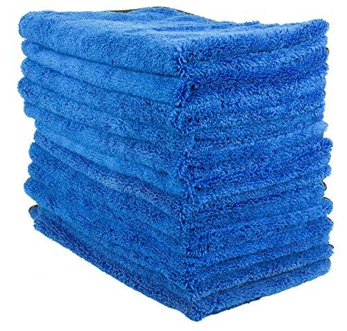 12 white yellow hem waffle microfiber towels new cleaning cloths 16x16 mega sale