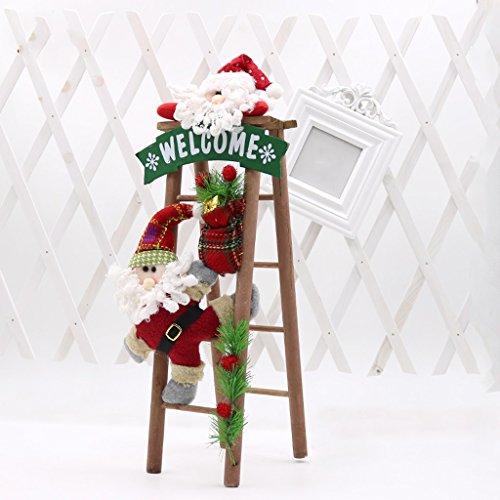 Kerst Venster Hotel Decoratie Winkels benodigdheden Kerst Houten Ladder Oude Ladder Ladder Kerstmis