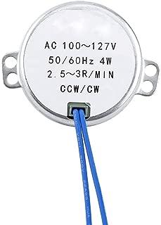 Turntable Synchronous Synchron Motor 50/60Hz AC 100~127V CCW/CW 4W (2.5-3RPM)