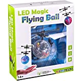 Flying Ball Infrared Induction RC Flying Toy Built-in LED Light Disco Helicopter Shining Colorful Flying Drone Indoor and Outdoor Games Toys for Boys and Girls