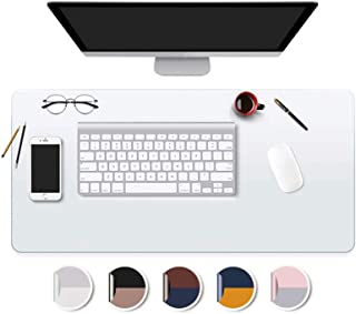 Desk Pad Blotters Protector Clear 14x30 in Plastic Desktopper Writing Surface Cover Desk Organizer Mat with Mouse Pad for Office Home Laptop Computer Tabletop Keyboard Mat Easy Clean Waterproof Glass
