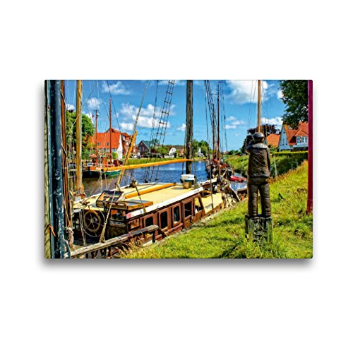 Calvendo Premium Lienzo de 45 cm x 30 cm Horizontal, de Madera, con Gorro de Marinero Que Mantiene el Desfile de Barcos, Imagen sobre Bastidor, Imagen Lista en la Naturaleza de Peter Ro