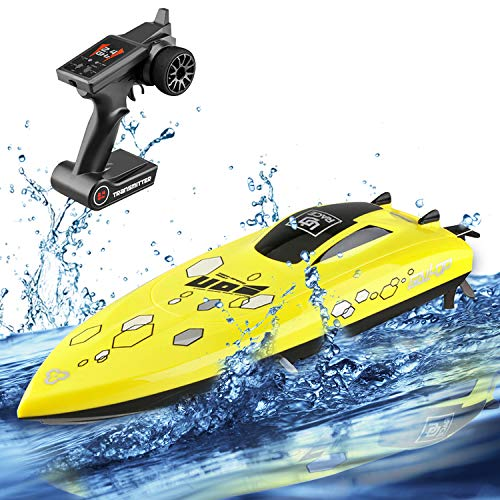RC Boat for Adults & Kids, Stotoy High-Speed Electronic Remote Control Racing Boat Indoor/Outdoor Toy for Pools and Lakes (Only Works in Water)