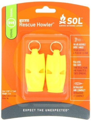Adventure Medical Kits Essentials, Confezione da 2 fischietti di Sopravvivenza