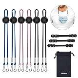 Veroyi Adjustable Neck Lanyards with Strap Extenders Ear Saver Handy Hanger Strap for Women Men Adults Seniors (6 Packs)