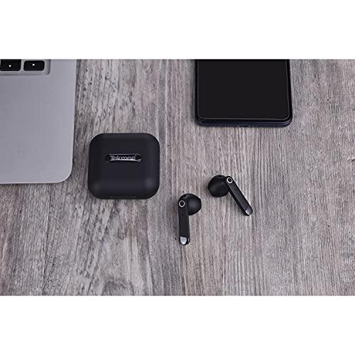 Tekme y auriculares estéreo Bluetooth 5.0, auriculares in-ear con caja de carga y pantalla digital, micrófono incorporado