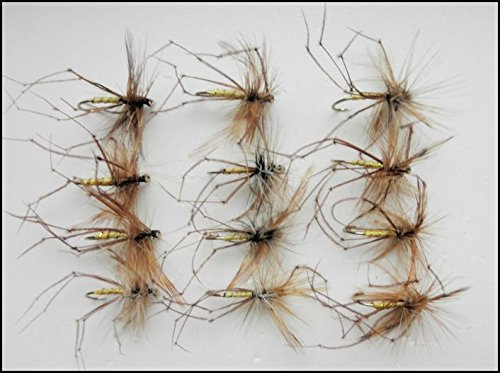 Troutflies Weberknecht-Köder, 12 Standard-Weberknechte, Hakengröße 10/ 12, Fliegenfischen