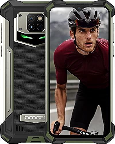 "DOOGEE S88 Plus (2021) Móvil 10000mAh Batería, 8GB+128GB Moviles Resistente Antigolpes, Cámara Triples 48MP+Cámara Frontal 16MP,IP68 IP69K Telefono, 6.3""FHD, Soporte Carga Inalámbrica, LED/NFC, Verde"
