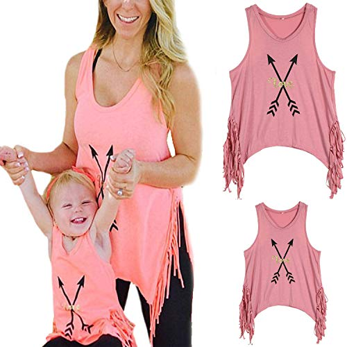 Mommy and Me Matching Letter Print Tank Top Sleeveless...