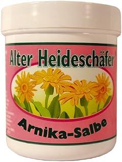 Arnika-Salbe zur Pflege beanspruchter, rauer und trockener Haut Alter Heideschäfer 100ml Dose mit Alufolie versiegelt
