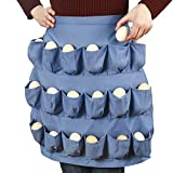Ecowel Egg Apron for Fresh Eggs with 18 Extra-large Double Suture Pockets, Egg Collecting and Gathering Apron, Chicken Lover Gifts (Adult Size)