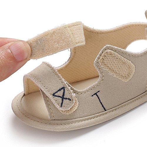 Babyschuhe Kleinkind Kleinkind Neugeborenes Kind Jungen & Mädchen Stickerei Weiche Sohle Antirutsch für Kinder 12-18 Monate (Belge)