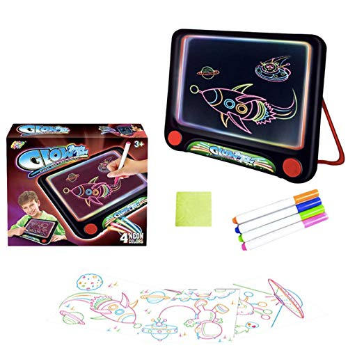 B/S LCD Writing Tablet 3d Drawing Board LED Luminous Educational Light Portable Painting Supplies Painting Writing Board Suitable For Teenagers (7-14 Years Old), Children (3-6 Years)
