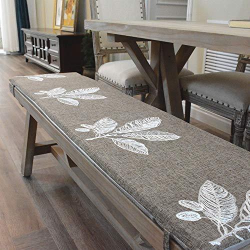 Patio bank stoel kussen, massief hout bank binnen outdoor bank anti-slip zitkussen met banden voor schommel bank Glider,34 * 132 * 3cm