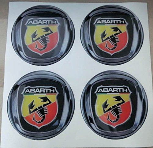 GTB Tuning - Juego de 4 adhesivos resinados con efecto 3D, 3M, de 55mm, con color, para llantas de aleación y tapacubos