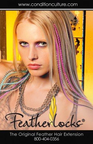 Featherlocks Lot de 25 plumes de couleurs mélangées à fixer dans les cheveux