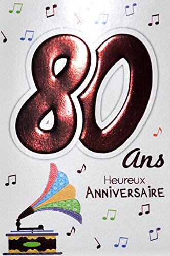Age Mv 69-2042 verjaardagskaart, 80 jaar, voor dames en heren, motief: Muziek