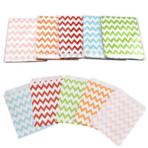 HQdeal bolsas de papel, 125pcs Bolsas Papel Colores, bolsas