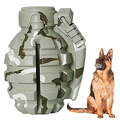 SUNNEKO Indestructible Dog Toys for Large Medium Dogs - Interactive Treat Dispensing Dog Toy - Tough Dog Chew Toys for Boredom - Durable Rubber Chew Ball for Extreme Chewers (Camouflage color)