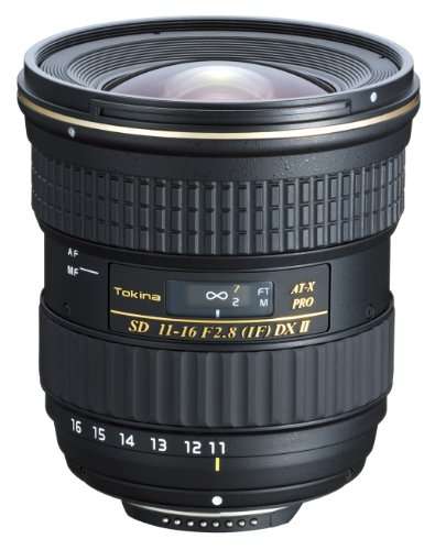 Tokina 11-16 mm AT-X Pro DX II - Objetivo para Nikon (11-16mm, f/2.8, 84 mm), Color Negro