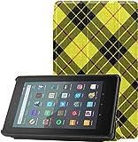 Tout Nouvel étui pour Tablette Amazon Fire 7 (9e génération, Version 2019) Slim Fit PU Leather Standing Macleod Tartan Kilt...