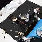 □ Dimension étendue - Lors de la lecture de jeux ou de terminer les tâches commerciales, le coussinet de souris étendu fournit une superficie utilisable plus grande pour couvrir la souris de clavier et des trucs sur le bureau, gardez simultanément vo...