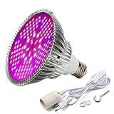 Iluminación para Plantas 100W E27 Bombillas de luz 150 Leds Grow Lamp de Interior Jardín de Efecto Invernadero y Plantas hidropónicas Full Spectrum Incluido Cable de Alimentación