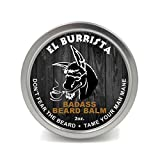 Badass Beard Care Beard Balm For Men - El Burrista Scent, 2 Ounce - Natural Ingredients, Soften Hair, Hydrate Skin to Get Rid of Itch and Dandruff, Promote Healthy Growth
