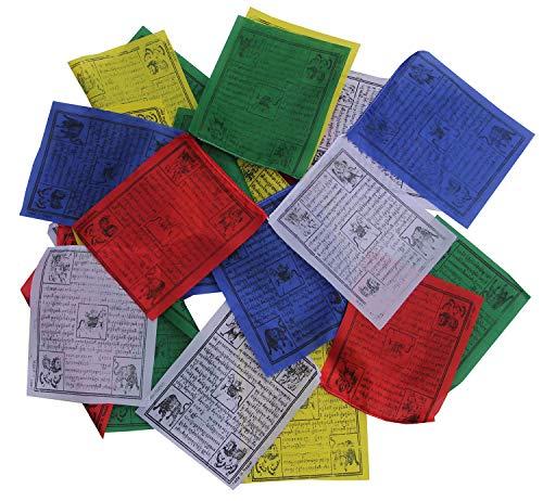DharmaObjects Tibetan Prayer Flags Indoor Outdoor Wind Horse Prayer Flags - Pack of 25 Flags (Multi 17')