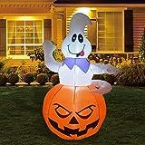 GOOSH Halloween Inflatables Ghost Blow Up Yard Decor Indoor/Outdoor Decorations