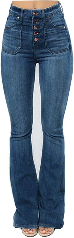 Women's Skinny Bell Bottom Jeans High Rise Flare Denims Bootcut Denim Pants