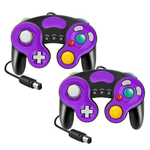 gamecube controller wired controller for Nitendo switch Wii Wii U GameCube Nintendo Switch Wired Classic Game NGC Controllers GC NGC Controller (Purple+Purple)