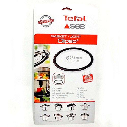 SEB 792237 Joint 8/10L Inox Ø 253 mm Conçu pour Clipso Easy 8L, Clipso Modulo 8/10L et Clipso Control 8/10L