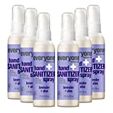 Everyone Hand Sanitizer Spray, 2 Ounce (Pack of 6), Travel Size, Lavender and Aloe, Plant...