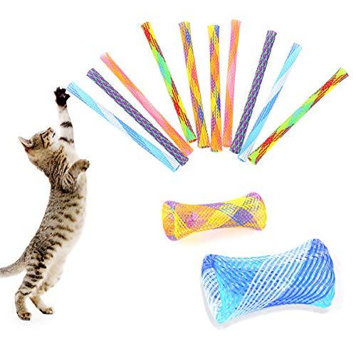 ASFINS Katze Frühling Spielzeug, 24 Stück Cat Spring Spielzeug Bunte Spirale Katzen Spielzeug für Katze Kätzchen Haustiere Neuheit Geschenk, 13CM (Zufällig)