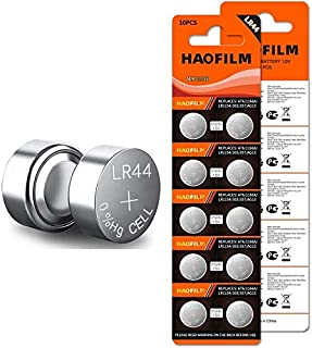 HAOFILM LR44 AG13 357 303 SR44 Premium Alkaline Battery,1.5V Round Button Coin Cell Batteries (20 Pack)