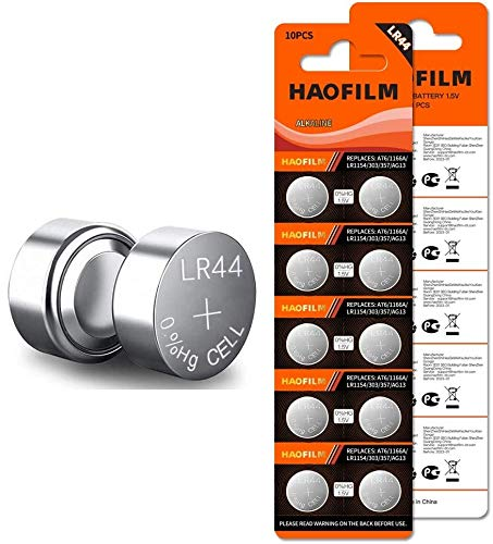 HAOFILM LR44 AG13 357 303 SR44 Premium Alkaline Battery,1.5V Round Button Coin Cell Batteries (20 Pack)