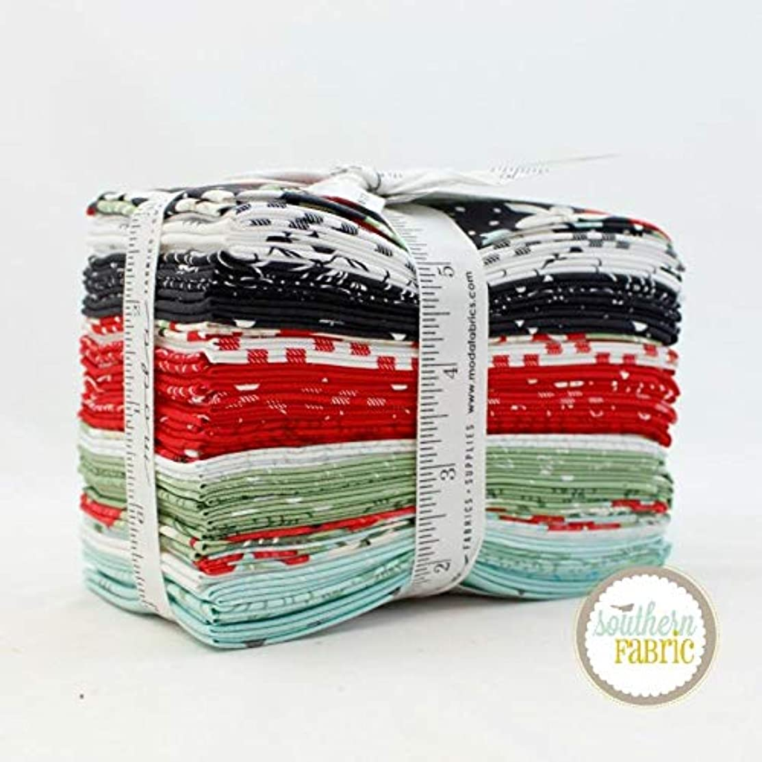 United Notions Little Tree Fat Eighth Bundle (29 pcs) by Lella Boutique 9 x 21 inches (22.86cm x 53.34cm) Fabric cuts DIY Quilt Fabric