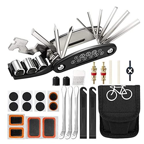 Kit de herramientas para bicicletas, kit de reparación de pinchazos, herramienta múltiple de bicicleta, accesorios de bicicleta de montaña, regalos de ciclismo, herramienta multifunción de bicicleta c